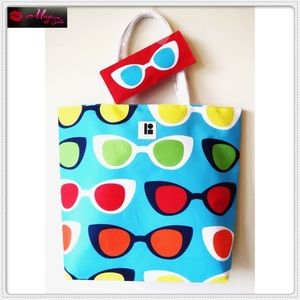 Beach Bag with Sunglasses Pouch